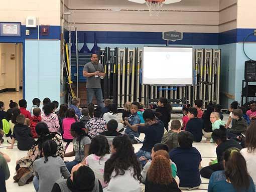 GAB Visits Lowell International Elementary School